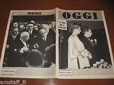 RIVISTA OGGI 1960/7=KRUSCEV=SOFIA LOREN=CAROLINE ALBERTO DI MONACO=