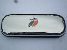 KINGFISHER BIRD RIVERBANK brand new chrome glasses case GREAT GIFT for CHRISTMAS