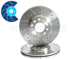 BMW 5 Series E60 530d 03- Front Drilled Grooved Brake Discs 324mm