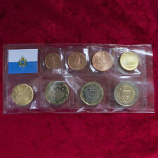 SAN MARINO COINS CURRENCY COIN SET COINS COINSET KMS 1 CENT - UNCIRCULATED BU ST