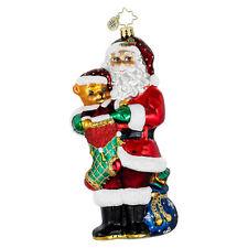 Christopher Radko - Stocking Stuffer - Santa & Bear - Retired Ornament 1016036