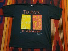 Picasso 1955 Toros En Vallauris Vintage Art Graphic T-Shirt L