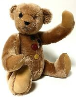 "Knickerbocker PATCHES 15"" Mohair Teddy Bear"