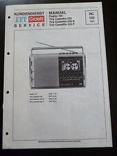 Original Service Manual  ITT Graetz Pagino 310 Tiny Cassette 220 / 220S / 220F