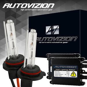 AUTOVIZION 55W 9006/HB4 Headlight Xenon Bulbs & AC Slim Ballasts HID Kit 5000K