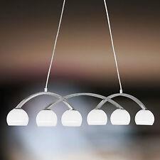 Wofi lampes suspendues Lynn 6 NICKEL boule en verre 3/4 Blanc 198 Watt 2760