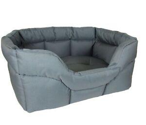 P&L Dog Bed Pet Heavy Duty Rectangular, Waterproof Medium Grey 32H x 67W x 57D