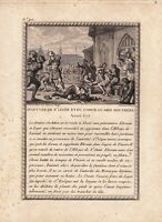 Gravure XVIIIe Saint Léger Evêque D'Autun Martyre Gairin Guérin de Vergy Ebrouin