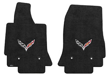 Lloyd Mats C7 Stingray Corvette Flags Ebony Floor Mats (2014-2019)