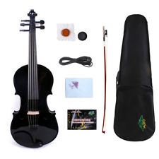5String Electric Acoustic Violin 4/4 Full Size Fiddle Maple Spruce With Case+Bow