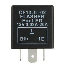 3-Pin Electronic Car Flasher Relay CF13 JL-02 fix LED light Hyper Flash Blinking