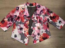 Ladies Alexon Blazer Jacket Coat, Size 18, Floral Design, Cotton, Immaculate