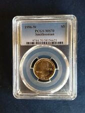 1996 W  Smithsonian $5 Gold Coin PCGS MS 70  [low pop - 90]