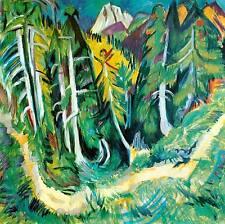 Waldweg bei der Staffelalm Ernst Ludwig Kirchner Schweiz Berge Bütten H A3 0074