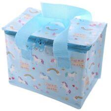 Fantasy Unicorn Rainbow Design Blue Insulated Kids Adult Lunch Box Cool Bag