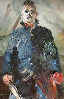 LIMITED PRINT - Abstract Michael Myers Halloween Horror Movie Wall Art Painting