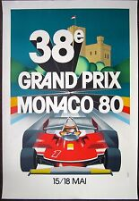Grand Prix Monaco 80 Car Race Poster