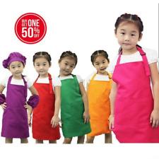 Children Kid Kitchen Art Craft Fabric Apron Bib Multi Colors Lot