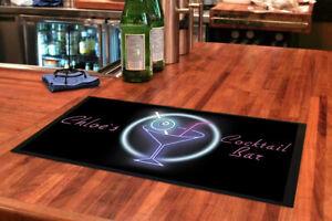 Cocktail bar mats / Personalised Bar mat / runners