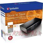 """DISCO DURO VERBATIM 1TB 47670 USB 3.0 5Gbps EXTERNO HD 3,5"""" PULGADAS 1000 Gb PC"""