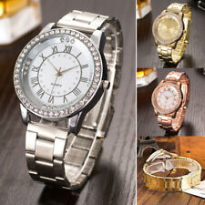 Luxus Damen Uhr Quarzuhr Armbanduhr Watch Uhren Edelstahl Strass Analog Uhr