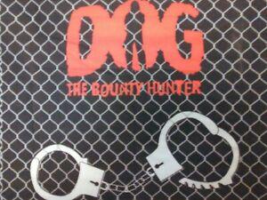 "DOG THE BOUNTY HUNTER-FENCED IN 22"" Bandana BANDANNA Handcuffs Head Scarf Wrap"