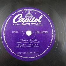 78 tr/min Frank Sinatra CRAZY LOVE/SO LONG MY LOVE