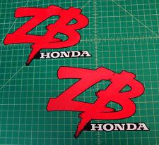 HONDA ZB50 2pc Black Petro FUEL TANK vinyl Decals Graphics Stickers Motorcycle