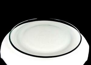 "ELEGANT GLASS CLEAR HEAVY ROUND 12 7/8"" SERVING PLATTER"