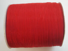 15 Meters Sheer Organza Ribbon - Red - 6mm
