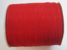 15 m Sheer Organza Ribbon-rouge - 6 mm