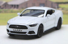 PERSONALISED PLATE Gift White Ford Mustang GT Boys Toy Dad Car Birthday Present