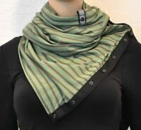 NWT Lululemon Vinyasa Scarf Deenie Stripe Desert Olive Fatigue Green Wrap NEW