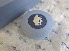wedgwood jasper Athena rond boîte - rare trois couleur JADE - 1st qual Boite de