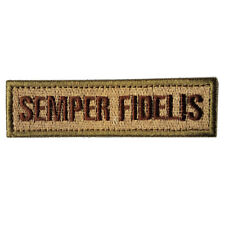 SEMPER FIDELIS U.S. MARINE CORPS 3D MORALE BADGE EMBROIDERED HOOK LOOP PATCH /02