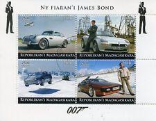 Madagascar 2018 CTO James Bond Cars Pierce Brosnan Roger Moore 4v M/S I Stamps