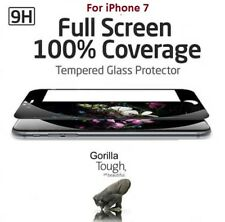 Full Screen 3D Curved Tempered Glass Screen Protector Black for iPhone 7 / 8, 4D