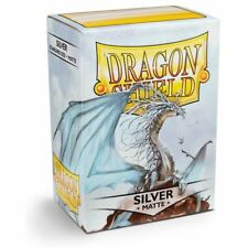 Matte Dragon Shield Standard Size Card Protector Sleeves MTG 100ct Silver box