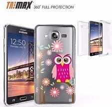 Samsung Galaxy ON5 Slim 360 Full Body Protection Flexible Case CUTE OWL