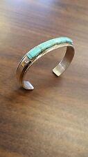 navajo handmade sterling silver bracelet cuff turquoise