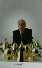 Alessandro Mendini signiert Design Alessi Original autograph Signatur Autogramm