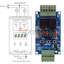 12v Dual Programmable Relay Control Cycle Delay Timer Switch Module Eazy Vlc 20