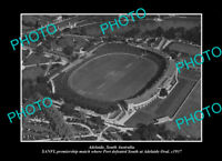 OLD LARGE HISTORIC PHOTO ADELAIDE SA THE SANFL GRAND FINAL PORT ADELAIDE 1937