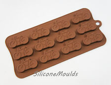 12 cell Bicycle Cycling Chocolate Candy Silicone Bakeware Mould Cake Wax Soap