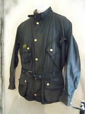 BARBOUR INTERNATIONAL SUIT WAXED MOTORCYCLE JACKET SIZE C46 117CM