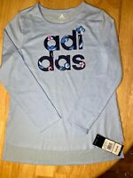 Girls Adidas Long Sleeve Tee Brand New With Tags Sizes Small - XL RETAILS $26.00