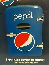 Pepsi Cola 6 Can Beverage Center Mini Refrigerator Car Adapter 120V Ac New