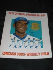 Sept 9 1977 BANKS Signed Signature CUBS METS PROGRAM SCORECARD souvenir baseball