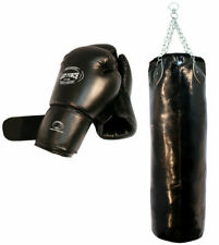 """54"""" Punching Bag 16oz Boxing Punch Gloves Bracket Mma Chains Heavy Duty 17"""" wide"""