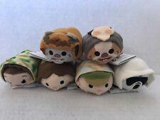 Disney USA Star Wars ENDOR RETURN OF THE JEDI Tsum Tsum Set OF 6 NWT EWOKS LEIA